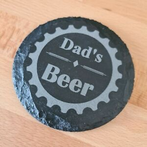 Dad beer slate coaster / Mat Father's Day, Pint, Mat Gift packaged FREE GIFT