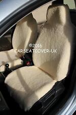 Vauxhall CORSA VXR-Lujo Piel de piel sintética de oveja cubiertas de asiento de Coche-Delantero Par