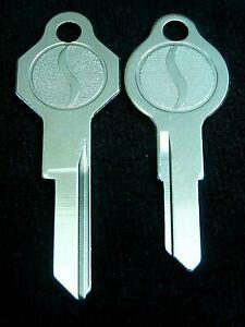 "STUDEBAKER AVANTI ""S"" Logo KEY blank Ignition/Trunk SET, Fits 1964-1970, Hawk"
