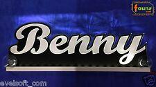 """LED LKW Truck Leuchtschild """"Benny"""" Ihr Wunschname 12 o. 24V weiß ©faunz"""
