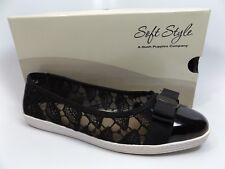 Soft Style Women's Fagan Black Macrame Ballet Flats SZ 9.0 WIDE     D9685