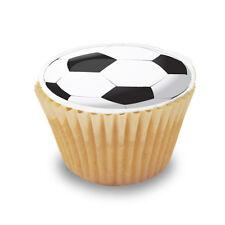12 x Football / Soccer Pre Cut Cupcake Toppers Premium Quality Sugar Icing Sheet