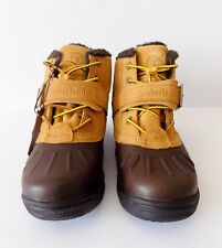 New Timberland 33975 Junior's Mallard Waterproof Mid Bungee Nubuck Boots ~ Brown