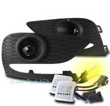 For 16-18 Chevy Cruze Bumper Driving Projector Fog Light Lamp W/3K Hid Kit+Bezel