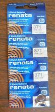 Batteries Silver 1.55V Swiss Made Lot of 19 Renata 371 Watch