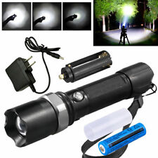 Military Grade Tactical Police 15000LM Heavy Duty 3W LED Rechargeable Flashlight
