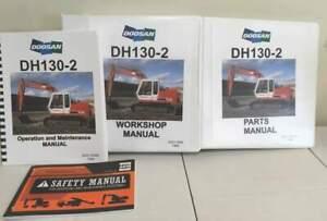 Daewoo/Doosan DH130-2 Hydraulic Excavator Manual Set