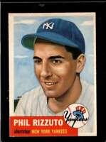 1953 TOPPS #114 PHIL RIZZUTO EXMT YANKEES HOF  *X00253