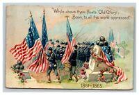 Vintage Early 1900's Postcard Raphael Tuck Patriotic Flag Union Army UNPOSTED
