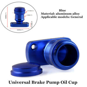 1X Motorcycle Blue Brake Pump Oil Cup w/Bottom Cover Aluminum Alloy Accessories