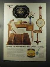 1958 Johnson's Paste Wax Ad - Protects So Many