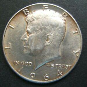 UNITED STATES 1964 KENNEDY HALF DOLLAR, 0.900 SILVER