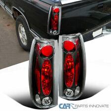 88-98 Chevy GMC C/K C10 Silverado Blazer Tahoe Tail Lights Rear Lamps Black Pair