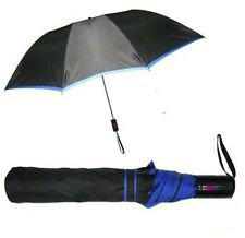 2 Fold Automatic Open Black Color Umbrella For All Season With Blue Border
