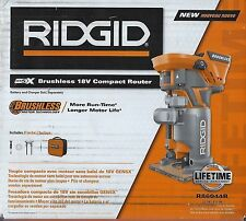 BRAND NEW RIDGID GEN 5X BRUSHLESS 18 VOLT COMPACT ROUTER R86044B IN THE BOX