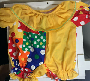 BABW Build a Bear Clown Outfit Clothes Cute Ranbow Vintage Bear Dress Up Reitred