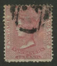 British Columbia 1860 QV 2 1/2 d dull rose #2 used