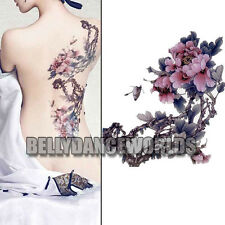 LARGE COLOR PEONY FLOWERS BODY ART WOMEN TATTOO TEMPORARY STICKER WATERPROOF NEW