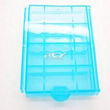 Caja Almacenado Blister Plástico Estuche Azul para Pilas AA b05