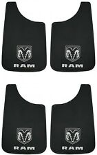 4PC Dodge RAM White Logo 11X19 Mud Flaps Splash Guard Truck New Free Shipping