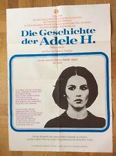 Geschichte der Adele H. (Kinoplakat '78) - Isabelle Adjani / François Truffaut