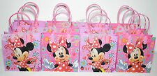 DISNEY MINNIE MOUSE GOODIE CANDY BAGS LOOT/ PARTY FAVORS 12PC GIFT BAGS PINK