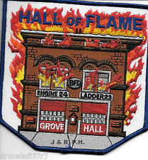 "Boston  Engine-24, MA  ""Hall of Flame""  (5"" x 5"" size) fire patch"