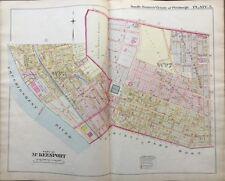 1900 McKEESPORT, PITTSBURGH, PA, CARNEGIE LIBRARY, COPY PLAT ATLAS MAP