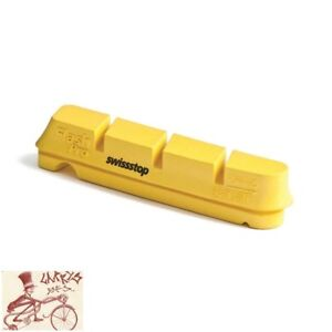 SwissSTOP FLASHPRO YELLOW KING REPLACEMENT PADS FOR CARBON RIMS--PACK OF 4