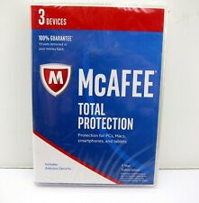 NEW McAfee Total Protection 2016 3 Device Antivirus Security PC Smartphone Mac
