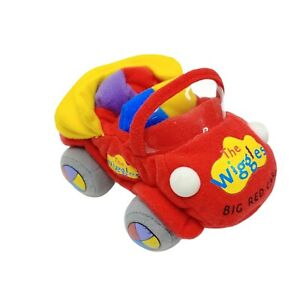 The Wiggles Big Red Car Plush Soft Toy Washed and Clean 15cm 2010 Beans