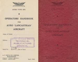 AVRO LANCASTRIAN 691 RARE MANUAL ARCHIVE 1940's period Lancaster development