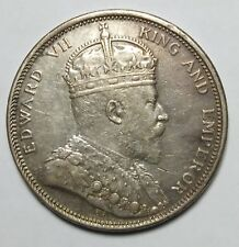 1 Dollar Straits Settlement Edward Vii 1904 One Dollar Silver Coin (high gred)4