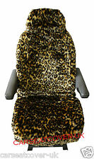 FORD TRANSIT LUXURY MOTORHOME SEAT COVERS - LEOPARD FAUX FUR