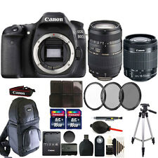 Canon EOS 80D 24.2MP Digital SLR Camera with 18-55mm & 70-300mm Lens & More