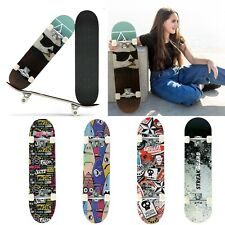 """31""""x 8"""" Complete Skateboards Double Kick Concave Skateboards For Teens/Beginners"""