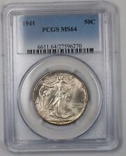 1941 Walking Liberty Silver Half Dollar Coin 50c PCGS MS-64 (Better Coin) 1D