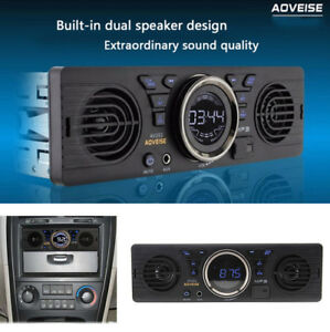 1Din Car In-dash MP3 Stereo Audio Player Bluetooth 2 Speaker USB/TF Card/FM/MP3