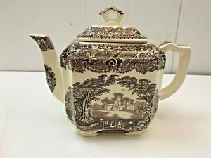 MASON'S VISTA BROWN IRONSTONE TRANSFERWARE - TEAPOT / SERVER  - NICE & HTF