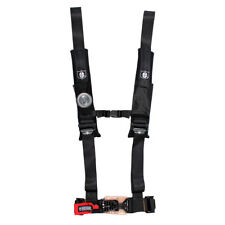 """Pro Armor Seat Belt Safety Harness 4 Point 2"""" Padded RZR Rhino Can Am Black"""
