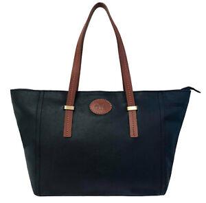 Over 50% Off Large Rowallan Black Leather Handbag, Tote Bag, Shoulder Bag
