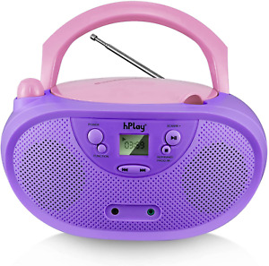 Hplay GC04 Portable CD Player Boombox with AM FM Stereo Radio Kids CD Player LCD