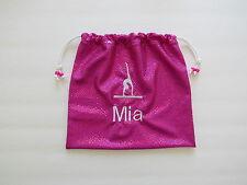 Monogram GRIP BAG w/ GYMNAST FIGURE-match to ur team gymnastics leotard gift