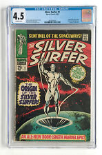 Silver Surfer #1 CGC 4.5 OW pages~Marvel Premier Issue~MCU Galactus Stan Lee