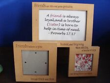 FRIENDS Natural Wood Picture Frame - 3D with 3 spots for pictures