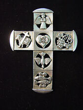 Cruz Pin de Solapa-Estaño entrelazado Cruz Azul con Gema Insignia Pin de Solapa