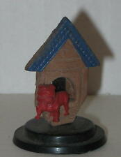 """1950's Dog and Dog House Figure - Approx 1.75""""  FREE Shipping"""