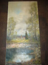 Johann Rosendorf Original Oil Canvas Painting Lake Mountains Landscape Austria