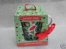 Coffee Mug Holiday Cheer Christmas Trees Snowmen Boston Warehouse Gift Boxed