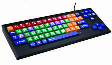MyBoard Color Coded Keyboard with Big Keys & Uppercase Large Print Letter Mac Wi